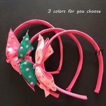 1 Pcs/lot Cute Grosgrain Ribbon Bowknot Girls Hairbands Kids Hair Bows Headbands Headwear Accessories