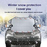 Osłona przedniej szyby samochodu magnetyczny samochód moskitiera na okno mróz lód duży śnieg osłona przeciwpyłowa Protector osłony przeciwsłoneczne do samochodu w Osłony przeciwsłoneczne na szyby od Samochody i motocykle na