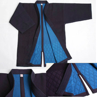 High Quality Kendo Tops 100% Cotton Natural Blue Dye Kendo Kimono Japan Style Aikido Iaido Gi Martial Arts Kendogi Costume