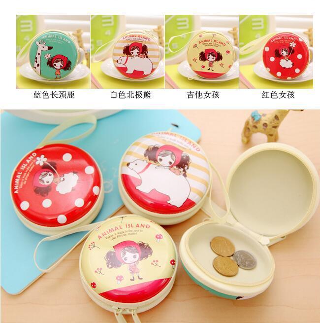 Korean-style Creative Mini Hand GIRL'S Zip Coin Purse Tinplate Cute Pula Cartoon Key Earphone Bag