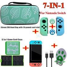 Kit 7 en 1 para Nintendo Switch, bolsa de almacenamiento de accesorios, Estuche De Viaje portátil para Nintendo Switch