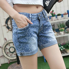 2020 модные летние джинсовые шорты для женщин из хлопка синего