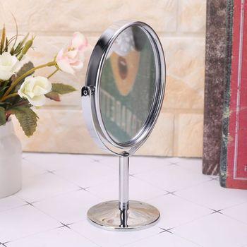 Nowe piękno makijaż lusterko kosmetyczne dwustronne normalne lusterko stojące Q0KD tanie i dobre opinie Nie posiada Metal glass Lustro do makijażu Ellipse Size 16 5cm x 8cm 6 5 x 3 inch (H x D) 2-face Q0KDD9381