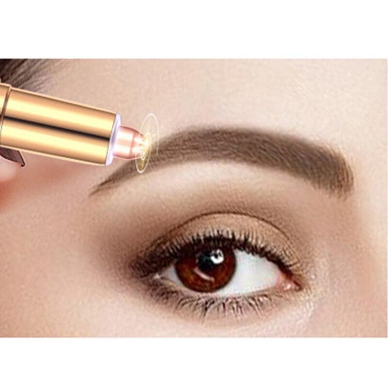 Portable Lady Electric Eyebrow Trimmer Painless Eye Brow Epilator For Women Razor Makeup Mini Shaver Facial Hair Remover