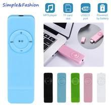 Reproductor de MP3 portátil, Reproductor multimedia de música, sin pérdidas, compatible con tarjeta Micro TF