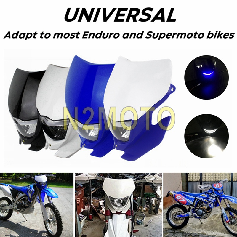 Motocross Off Road Headlight Fairing Front Running Light LED Fog Light For Yamaha WR450F WR250F YZ YZF TW TTR DR RM Supermoto