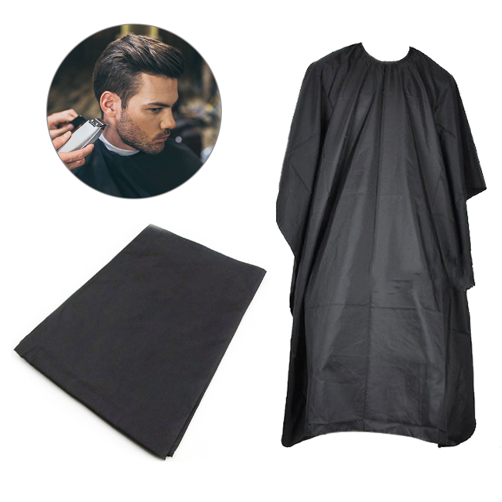 Schwarz Friseur Cape Professionelle Haar-Salon Barber Tuch Wrap Schützen Kleid Schürze Wasserdichte Schneiden Kleid Haar Tuch Wrap