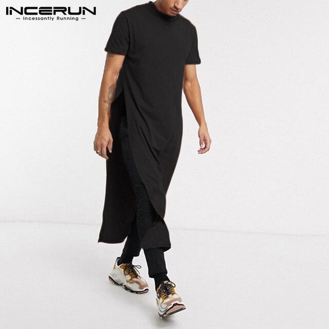 Фото футболка incerun мужская с круглым вырезом модная уличная одежда