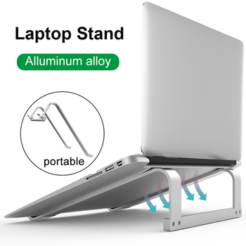 COOLCOLD Aluminum Alloy Laptop Stand Desktop Notebook Holder Desk Non-slip Bracket Laptop Stand For 11-17 inch Macbook Pro Air цена 2017