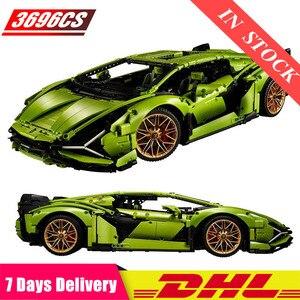 Строительные блоки Speed Champions Corvette Lamborghinis Sian FKP 37 Technic MOC, набор для автомобиля, детские игрушки, подарки для взрослых