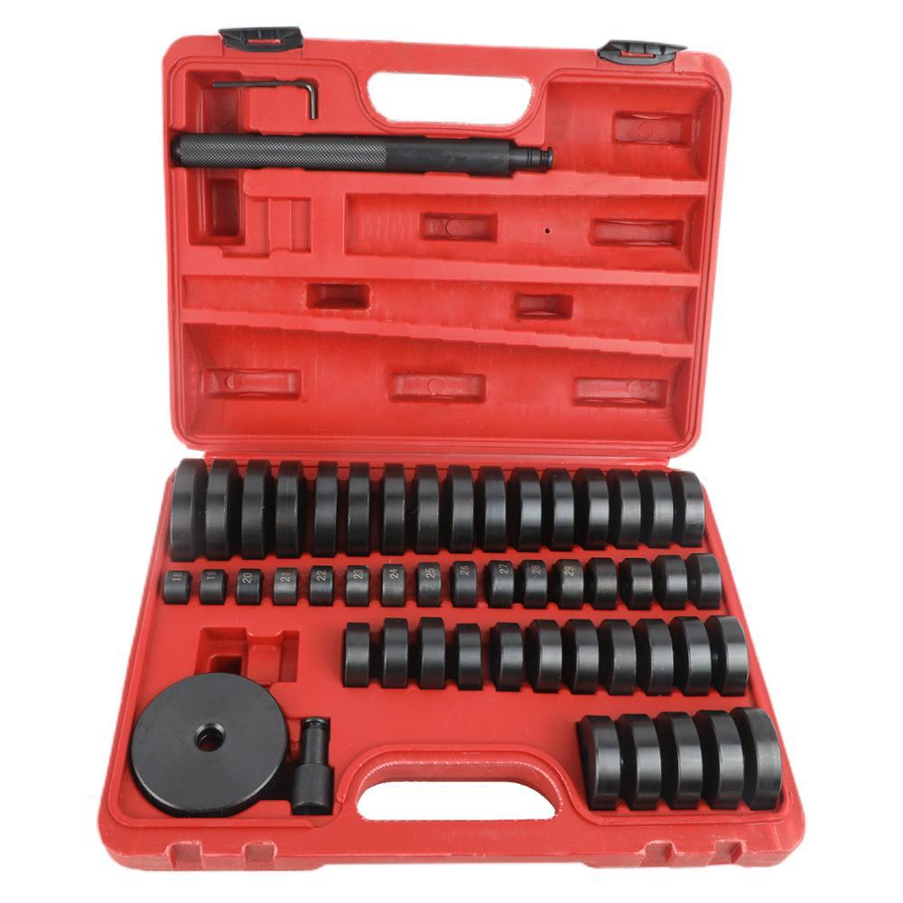 Custom 51 Pc 18-65mm Bushing Disc Bearing Seal Driver Pressure Disc Tool Set
