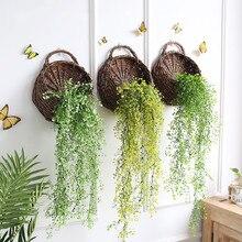 80 см искусственный цветок из шелка лоза гирлянда для развешивания растение для домашнего сада романтические Листья Свадебный декор гирлянда для развешивания украшения