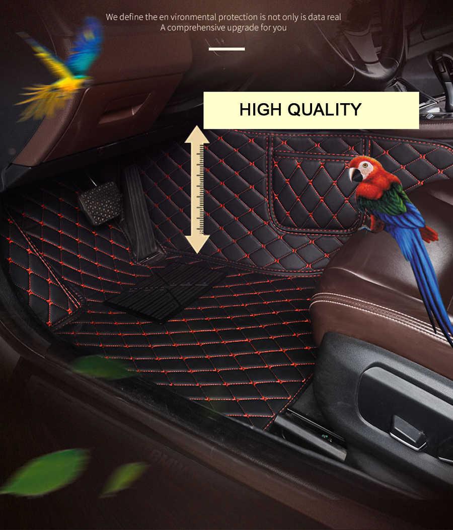 עור רכב רצפת מחצלות עבור מיצובישי פאג 'רו ASX לנסר ספורט EX זינגר פורטיס הנכרי Grandis גלנט רכב סטיילינג