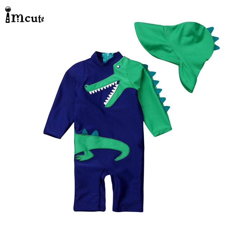 imcute 2020 criancas roupas de marca meninos dinossauro 1 pc maio roupa de banho 1 5