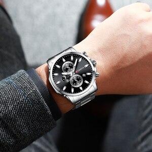 Image 5 - CURREN mode hommes Quartz chronographe montres décontracté montre daffaires en acier inoxydable horloge mâle Date Reloj multifuncion