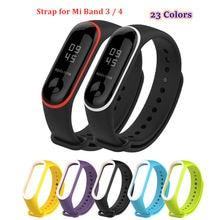 Силиконовый ремешок duoteng для xiaomi mi band 4 3 22 цвета