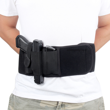 Right / Left Hand Tactical Pistol Belly Band Holster Concealed Military Gun Pouch Airsoft Shooting Hunting Belt Holsters 1