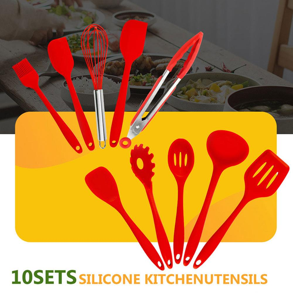 Red Durable Practical Spaghetti Server Spoon Leakage Shovel Egg Beater Slotted Turner Food Grade Ladle|Cookware Sets| |  - title=