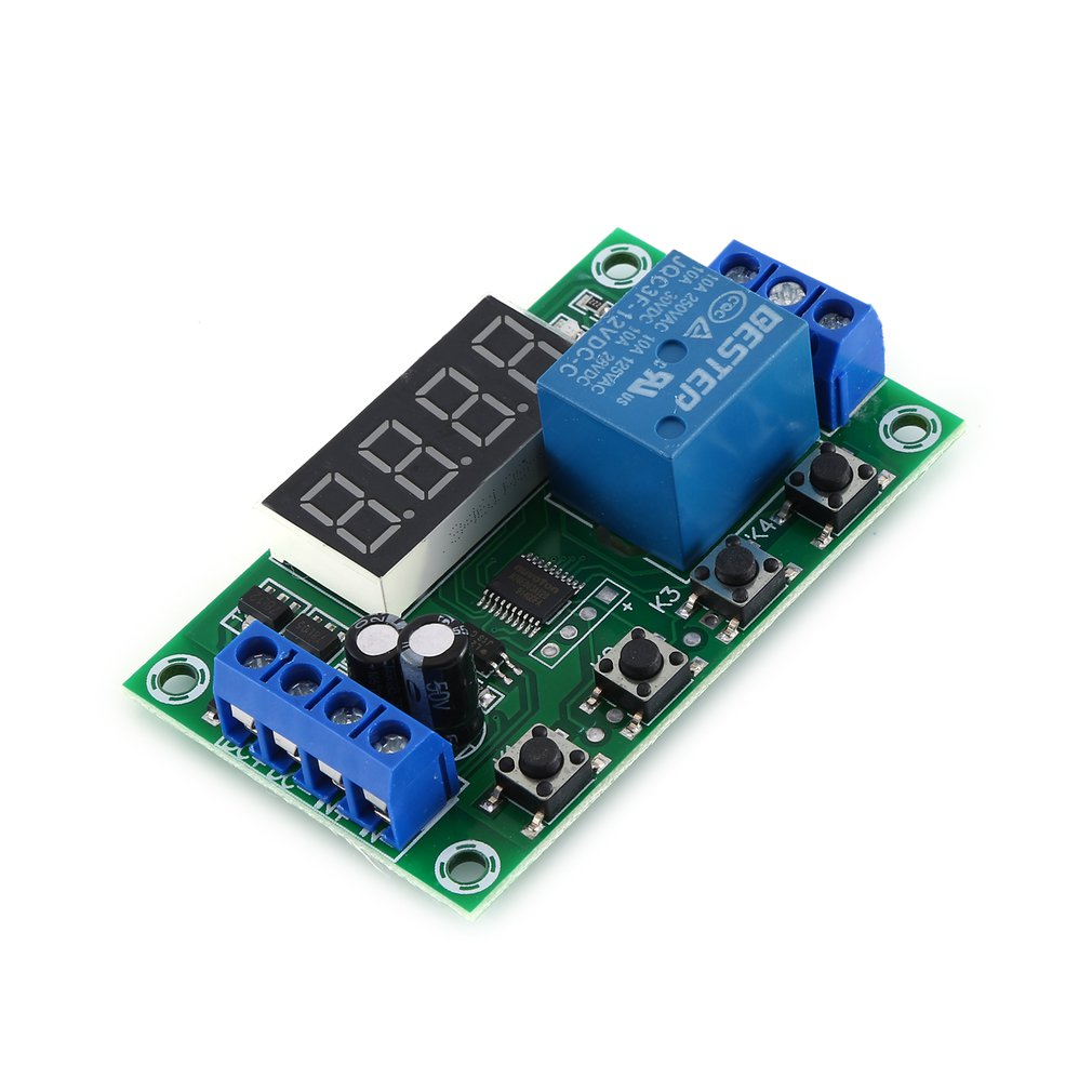 DC 12V 5A Adjustable LED Relay Module Power Off Delay Timer Control Switch Board Cyclic Trigger Delay