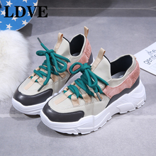 2019 Platform Women Sneakers Fashion Thick Bottom Height Increasing Casual Chunky Shoes Chaussure Swing Slimming