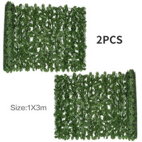 2pcs Ivy Leaves Artificial Ivy Greenery Garland Hanging Vine for Wedding Party Garden Outdoor Office Wall Decoration