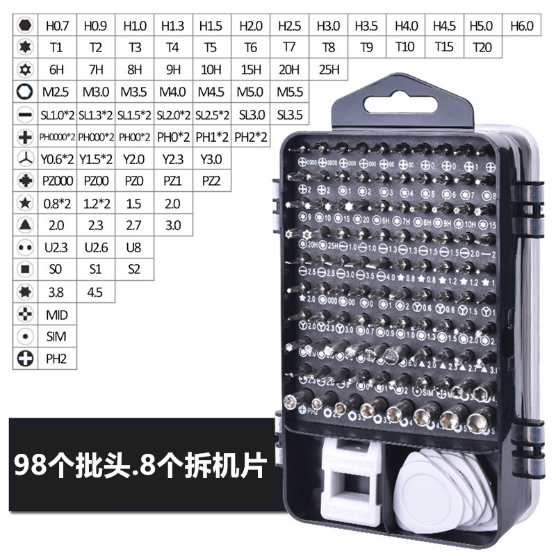 115 In 1 Magnetic Precision Screwdriver Set For IPhone Huawei Ipad Watch Clock Mobile Phone Disassembly Installation Repair Tool
