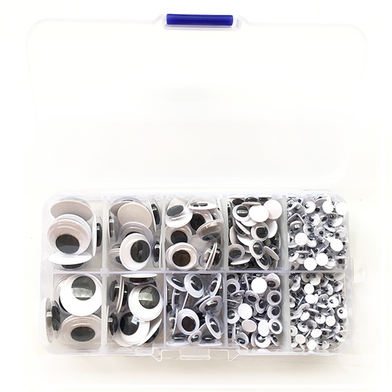730PCS Self-adhesive Mixed Random Approx 4-18mm Dolls Eye For Toys Googly Eyes Used For Doll Accessories DIY Craft Wiggly Eyes