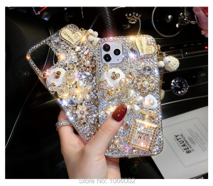 Image 2 - Luxury 3D Gold Purse Carriage Bling Crystal Cases for Samsung Galaxy S10E S9 S10 S20 Plus FE Fan Edition Note 10 Lite 20 Ultra 9