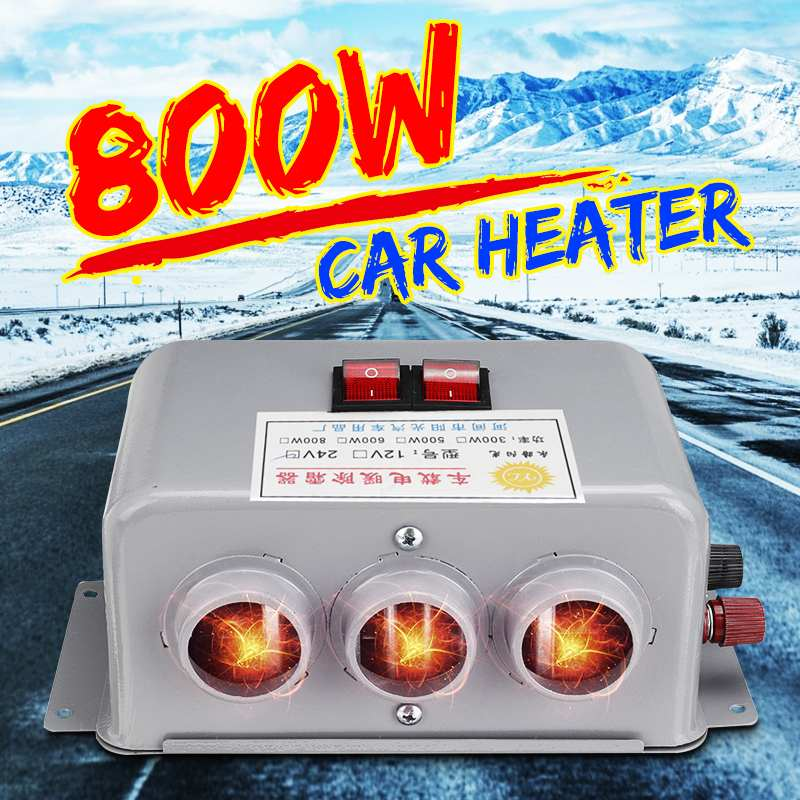High Power 800W 12V/24V Car Truck Heating Fans 3 Hole Winter Auto Heaters Warm Dryer Window Glass Defroster Interior Accessories