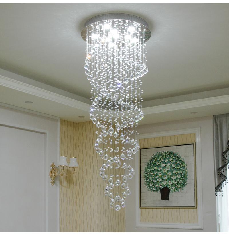 Spiral LED Chandelier Bedroom 2