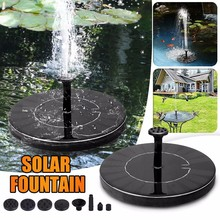 2.5W Solar Garden Fountain Pump Solar Garden Fountains Waterfalls Power Solar Fountain Powered Water Pump Birdbath Fountain#Y20 7v solar powered fountain water pump connect tube with nozzles solar birdbath fountain pump for garden waterfalls pond fish tank