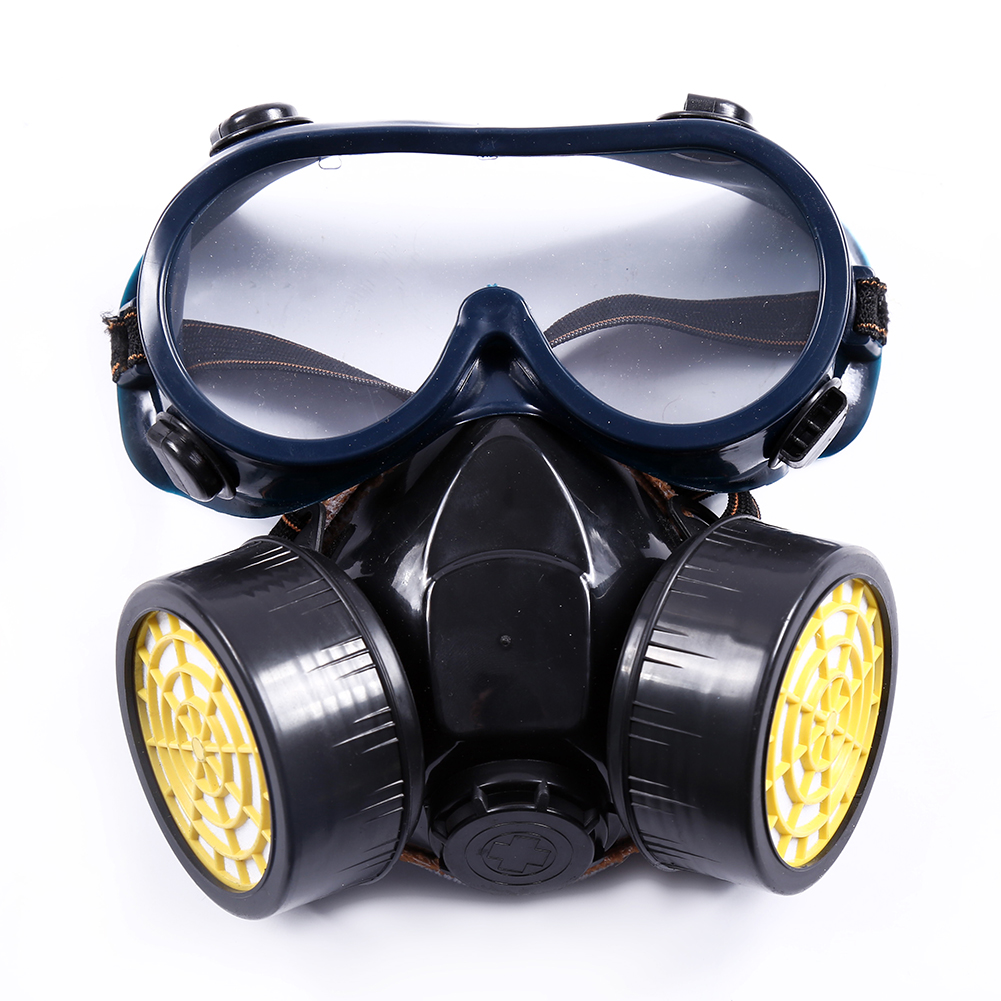 Filtration Dual  Protective Dust Face Respirator Laboratory Safety Adult Chemical Gas Mask Active Carbon Painting