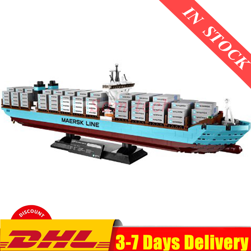 IN Stock  DHL Technic The Maersk Cargo Container Ship Set Building Blocks Bricks Model Toys Compatible 22002 10241
