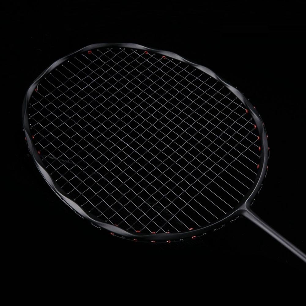 Curve Shape Speed Smash Carbon Badminton Racket High Tension Heavy Head Men's Badminton Racquet 75g Max 32LBS