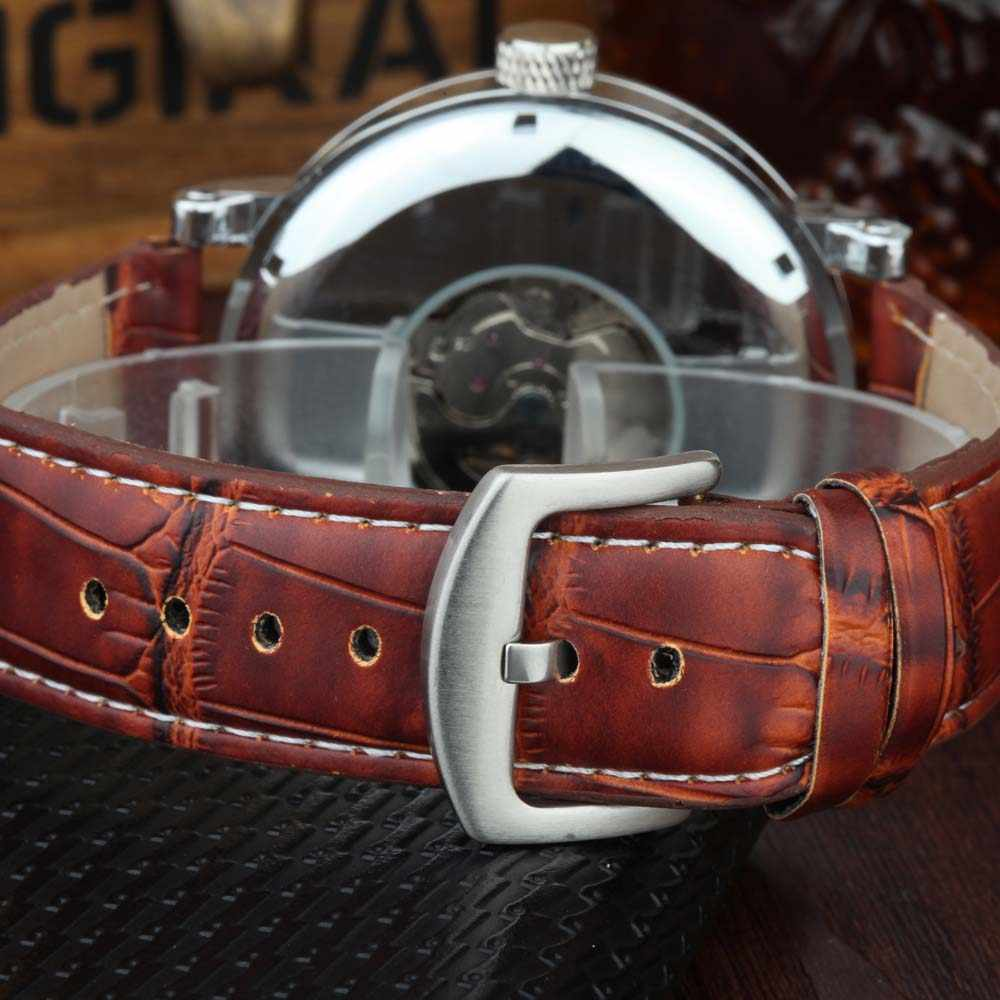 GOER Men นาฬิกาผู้ชายนาฬิกาข้อมือแฟชั่นกีฬานาฬิกาข้อมือสายหนังผู้ชายนาฬิกาชายนาฬิกา Reloj Hombre