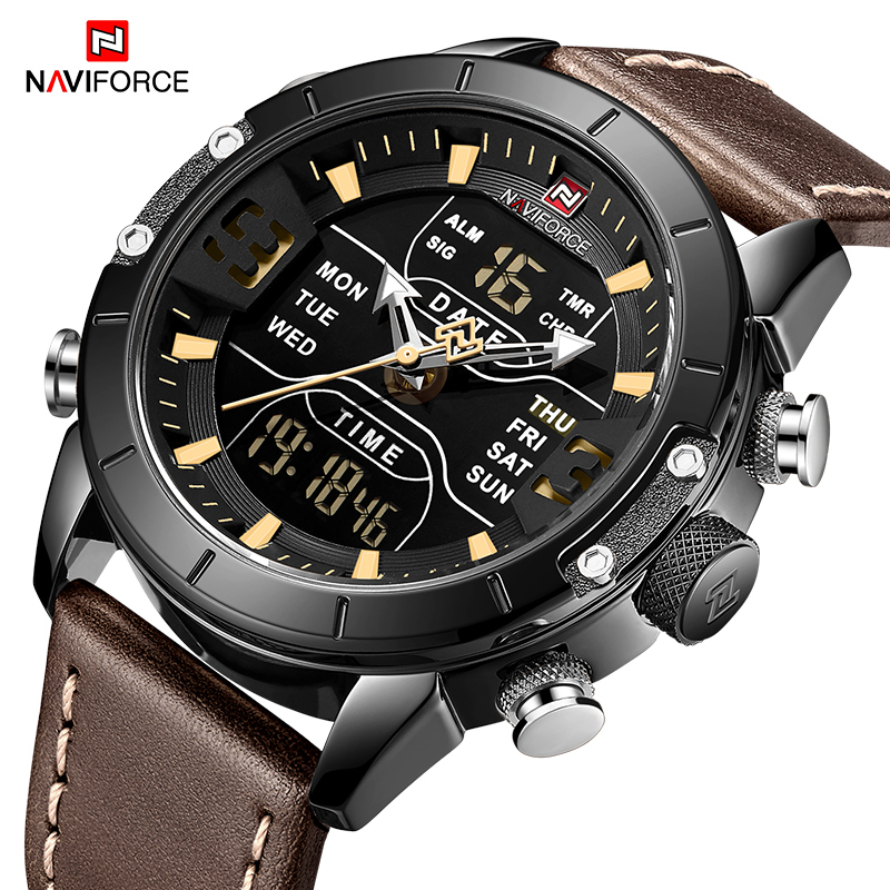 NAVIFORCE Watch Men Brand Luxury Fashion Quartz Men's Watches Waterproof Sport LED Digital WristWatch Clock Relogio Masculino