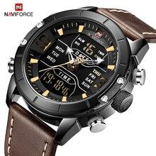 NAVIFORCE Watch Men Brand Luxury Fashion Quartz Men's Watches Waterproof Sport LED Digital WristWatch Clock Relogio Masculino