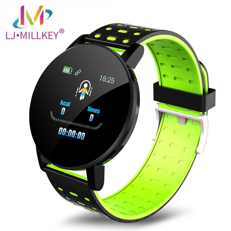 119Plus Smart Watch Heart Rate Blood Pressure Health Smart Bluetooth Wristband Fitness Tracker For Android IOS