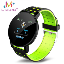 цена на 119Plus Smart Watch Heart Rate Blood Pressure Health Smart Bluetooth Wristband Fitness Tracker For Android IOS