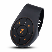 Bluetooth 4,0 Control remoto Botón Multimedia reproductor de música controlador Kit de coche para coche volante bicicleta para IOS para Android