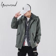 Yasword Jacket Men Loose Autumn Jackets Spring Hooded Windbreaker Fashion High Quality Coats