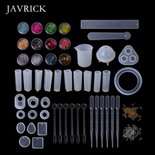 1 Set Epoxy Resin Kit DIY Jewelry Making Tools Shiny Powder Cup Silicone Mold DIY Necklace Pendant Ring Gifts Handmade Molds