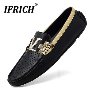 New Trend 2020 Men Casual Shoes Rubber Bottom Loafers Moccasins Men Luxury Brand Mens Plus Sizes Shoes Anti Slip Drive Men Shoes