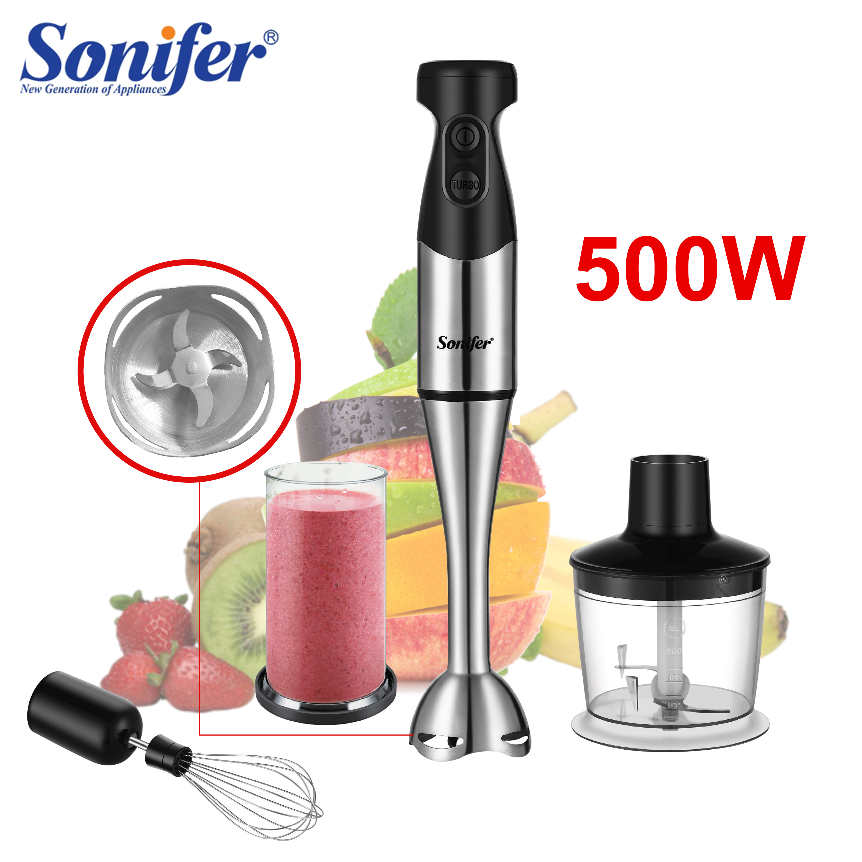 2 скорости Электрический блендер 3 в 1 Миксер для еды кухонный смузи съемный ручной блендер, взбивание яиц салат из овощей и фруктов Sonifer