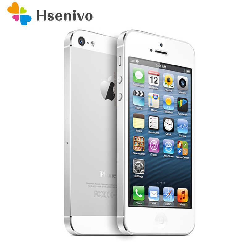 "Original Apple iPhone 5 Unlocked Mobile Phone iOS Dual-core 4.0"" 8MP Camera WIFI GPS Used Phone free gift"