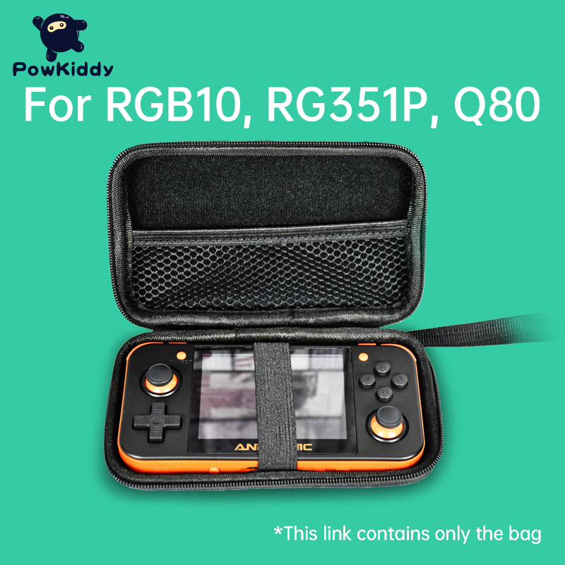 Powkiddy RGB10 RG351P Q80 Q50 Portable Handheld Retro Game Bag For Retro Game Console RG350 Game Device Multi Function Game Pack