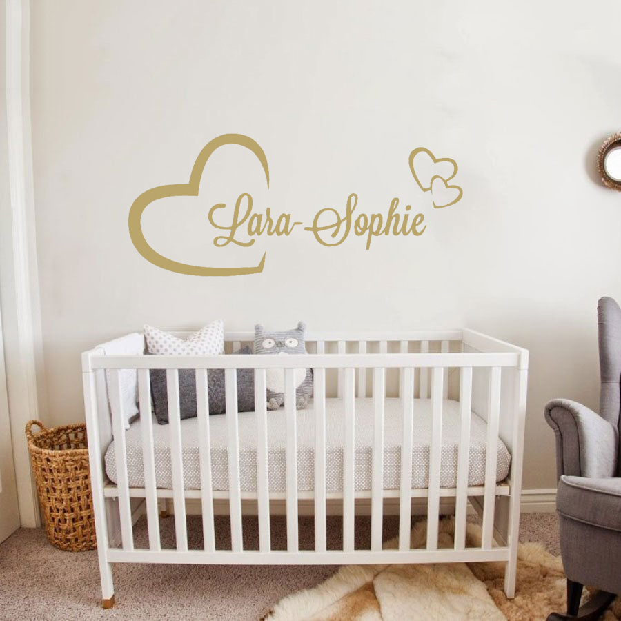 US $28.28 285% OFFPersonlized Name Wall Stickers For Kids Room Custom Girl  Boys Name Baby Room wall Decal Removable Vinyl Mural Poster JW28Csticker