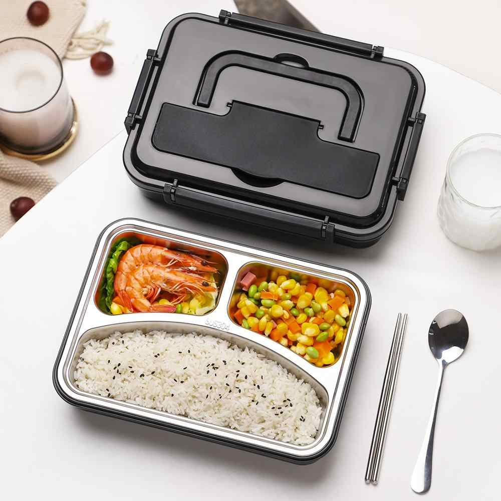1200ML Lunch Box with Bag Japanese Style Kid Adult Bento Boxs Leakproof Food Container Portable Handle Picnic Storage