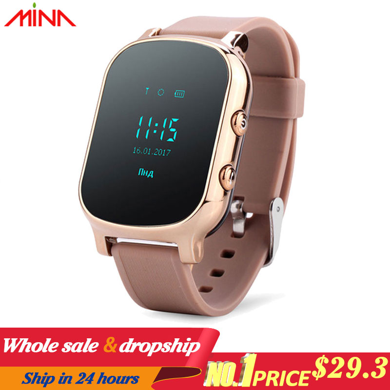 GPS WIFI Tracker Smart Watch  Personal Locator T58 GSM Tracking sim card smartwatch children's watches For IOS android Phone-in Smart Watches from Consumer Electronics on AliExpress