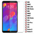 9D Protective Glass on the For Meizu C9 Pro M8 Lite M6 Note M8C M6S M6T Tempered Screen Protector V8 X8 Note 8 9 Glass Film Case